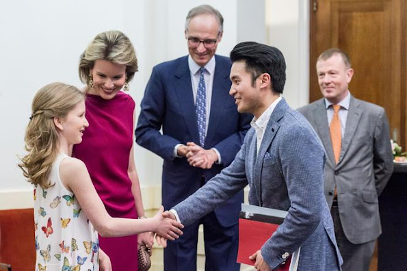 Crown Princess Elisabeth and Queen Mathilde of Belgium attended a session of the finals of the Queen Elisabeth Violin Competition