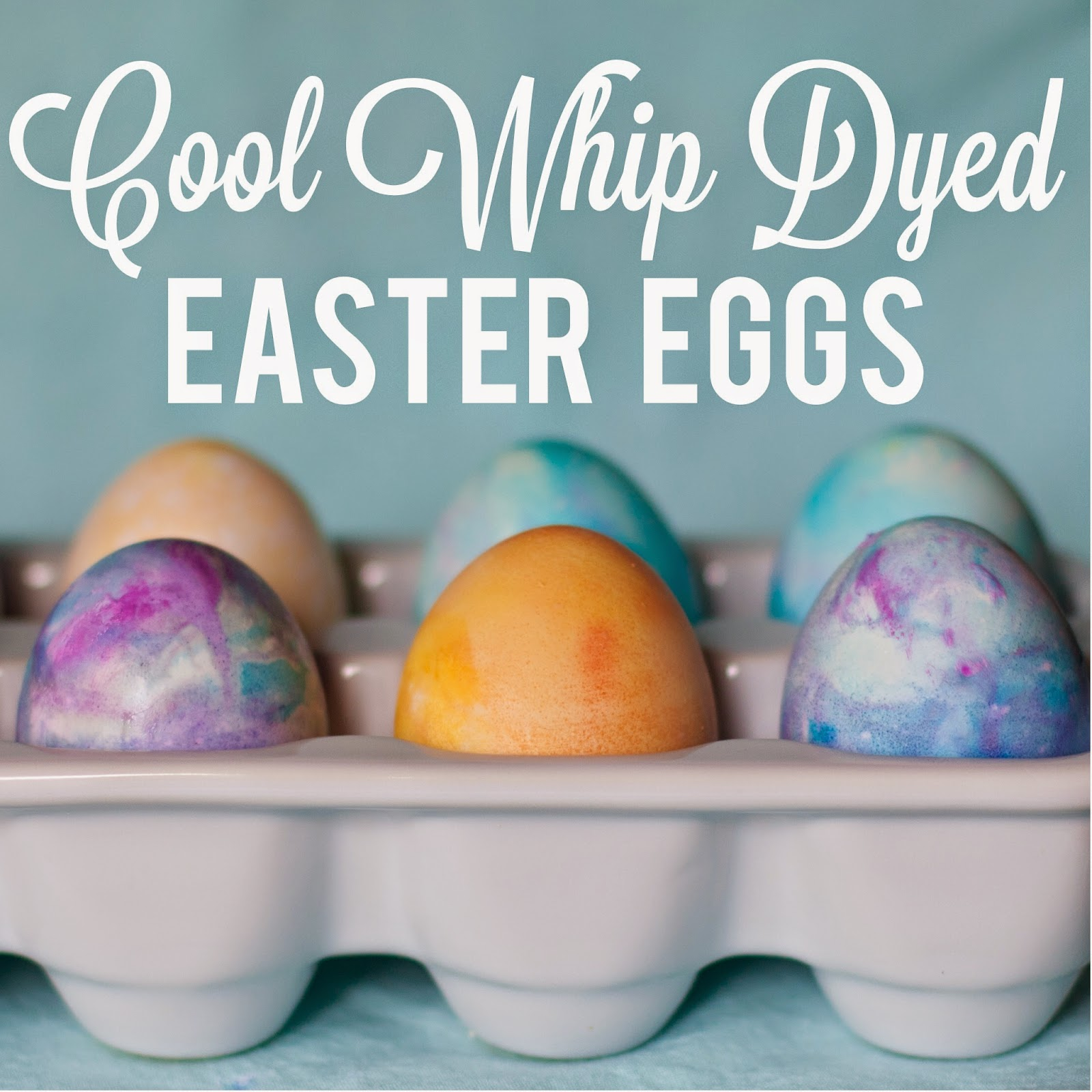 Cool Whip Dyed Easter Eggs - Klein dot Co