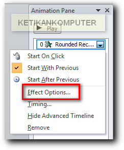 Effect option