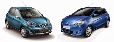 Nissan Micra i Mitsubishi Mirage/Space Star