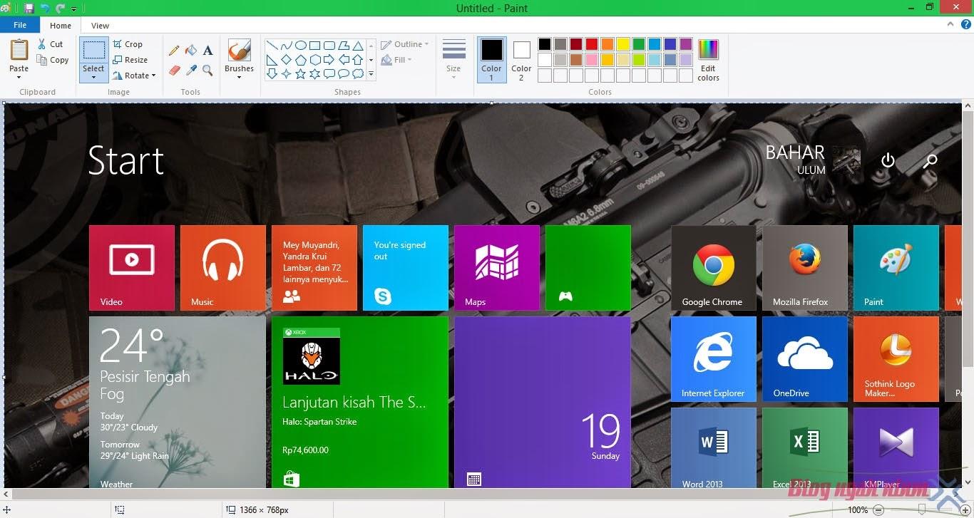 cara mengambil screenshoot di windows 8, 8.1