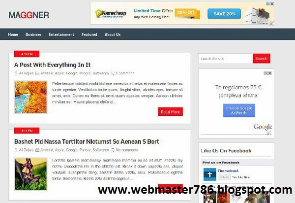 Free Magzon Blogger Template
