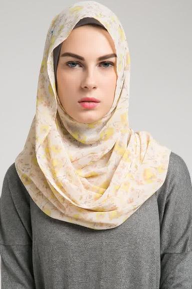 Contoh Hijab Modern Segi Empat