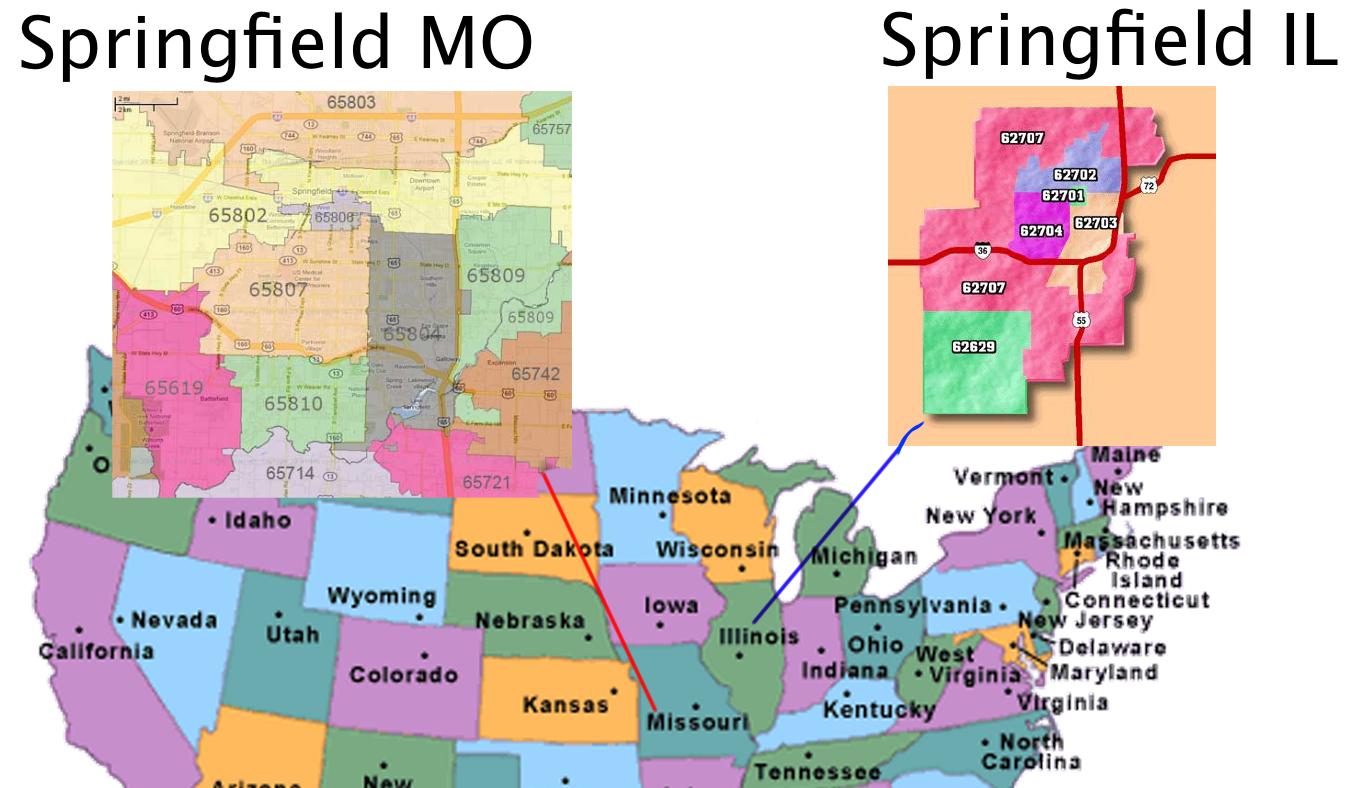 Random Us Area Code - Us zip code map by state