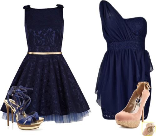 vestido de festa zul