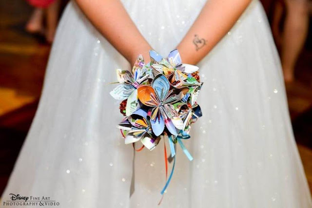Disney Wedding Inspiration: DIY Disney Park Map Bridal Bouquet