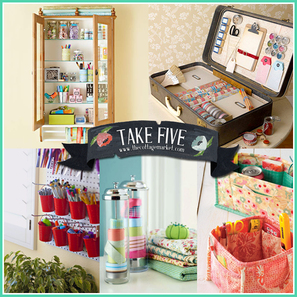 5 great craft organizing ideas the cottage market for Craft supplies organization ideas