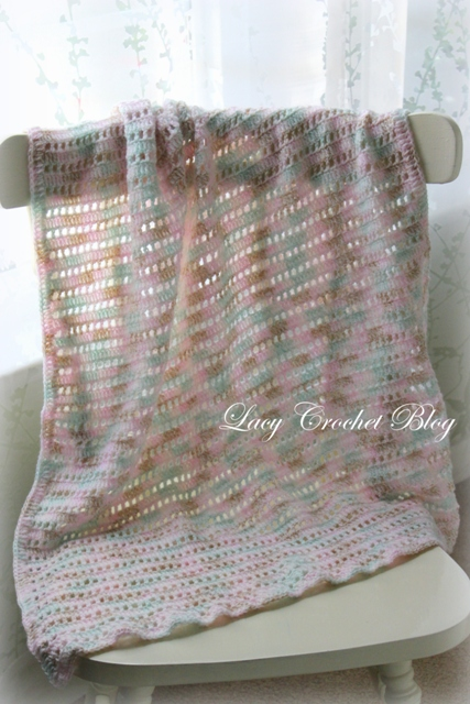 Lacy Crochet: Natural Girl Simple Baby Blanket in Variegated Yarn