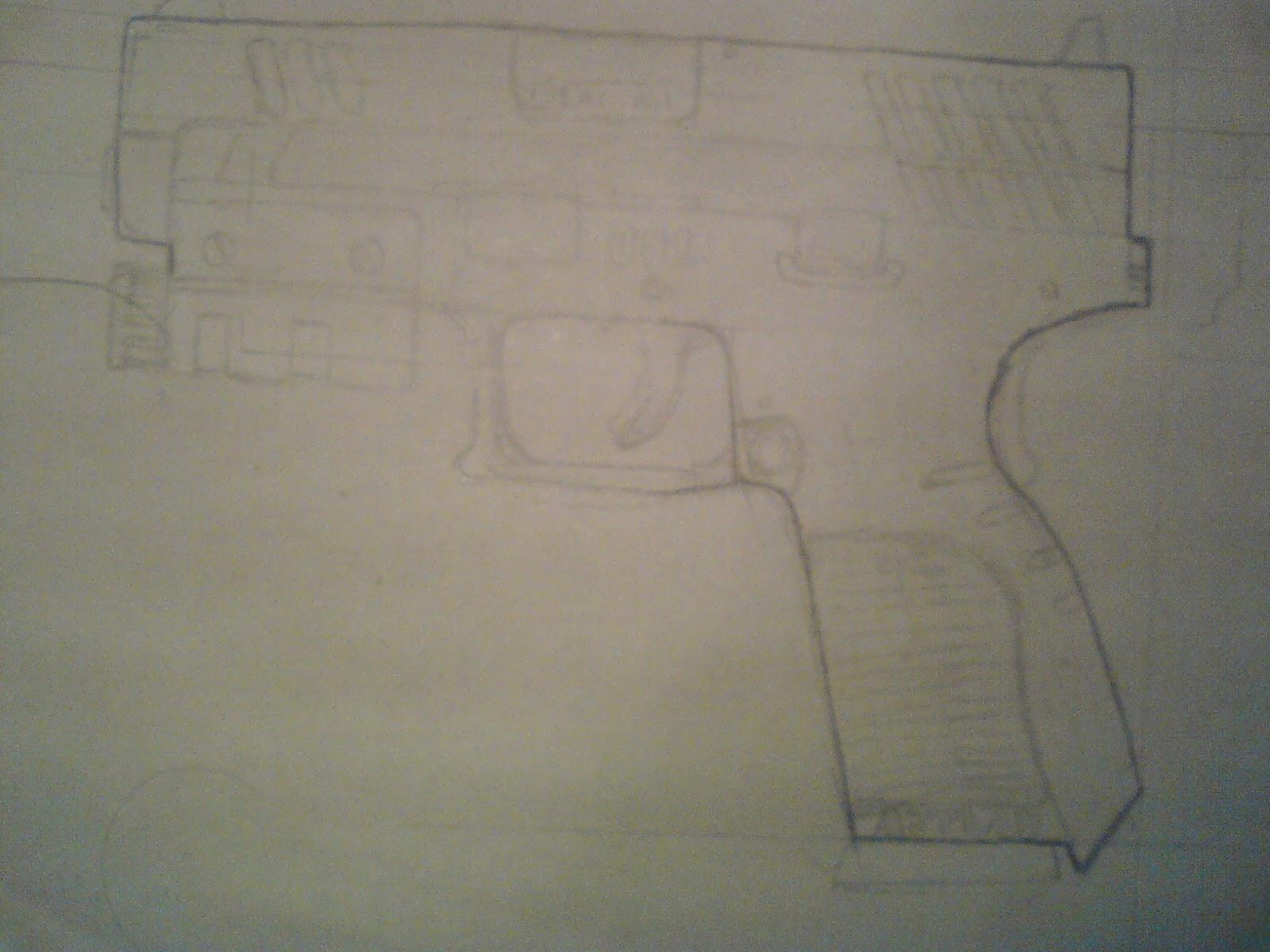 Pistola Blacktail - Resident Evil DSC04409