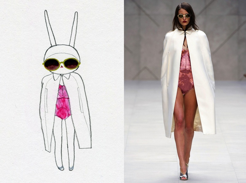 fashion illustration, Fifi lapin