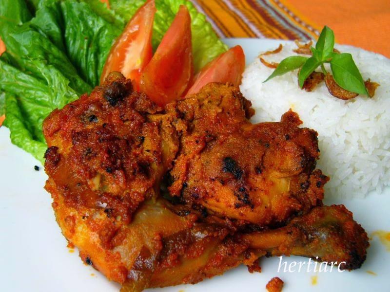 Resep Masakan Indonesia Ayam Panggang Bumbu Rujak