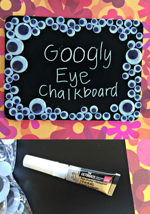 DIY Googly Eye Chalkboard - Dollar Store Craft