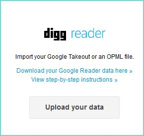 Import Google Reader data to Digg Reader