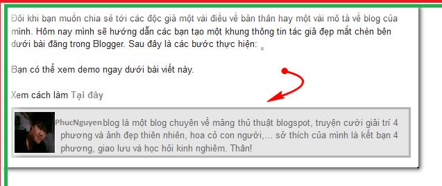 author box dep don gian o chan moi bai viet cho blogspot