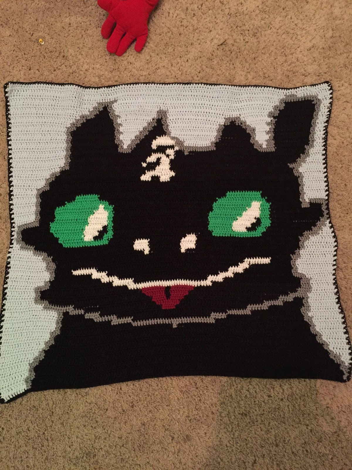 A Hook in Time: Toothless Dragon inspired infant blanket