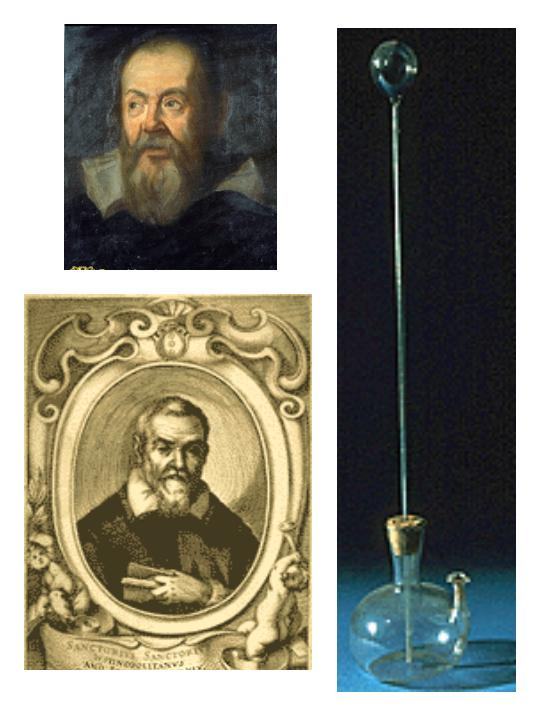 Resultado de imagen para el primer termometro de galileo galilei