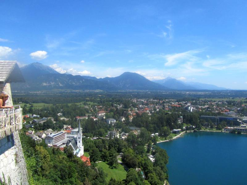 Slovenia - Lake Bled, viewed from Bled Castle