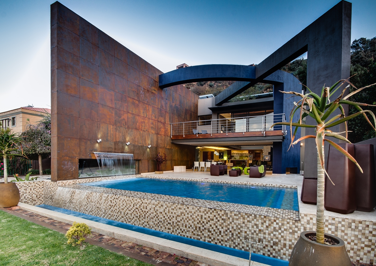 World of architecture modern villa called house the in for Pool design johannesburg