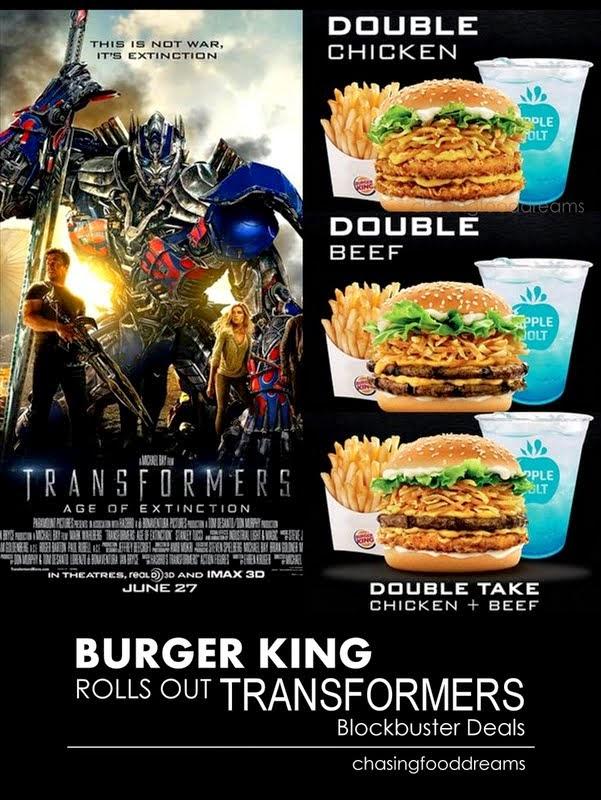 Transformers Burger King Burger King Rolls Out
