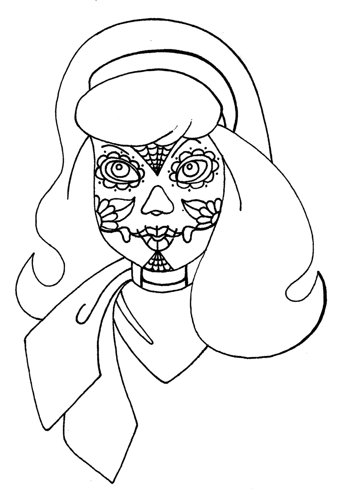 Yucca flats n m wenchkin 39 s coloring pages dia de los for Scooby doo halloween coloring pages