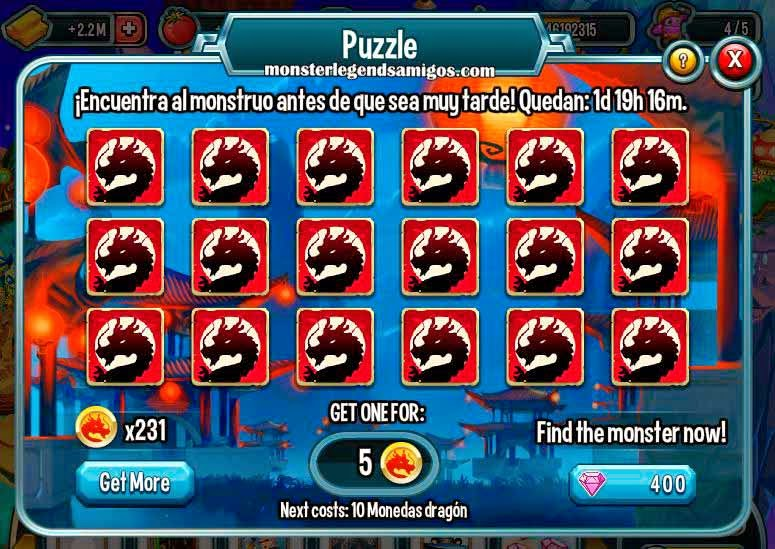 imagen del puzzle de la isla china de monster legends