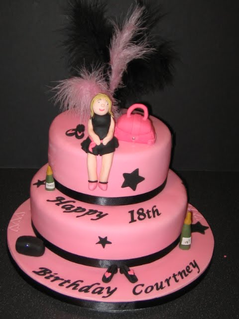 Carinas Cakes 2 Tier Pink Girly Cake
