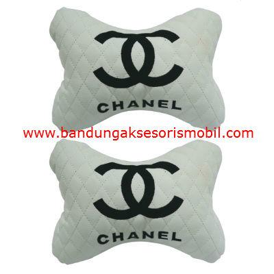Bantal Kepala Chanel Perancis Putihper 2 pcs