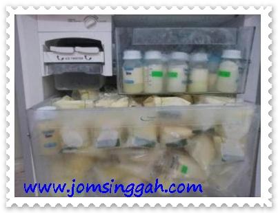 Penuh deep freezer dengan Set penyusuan shaklee