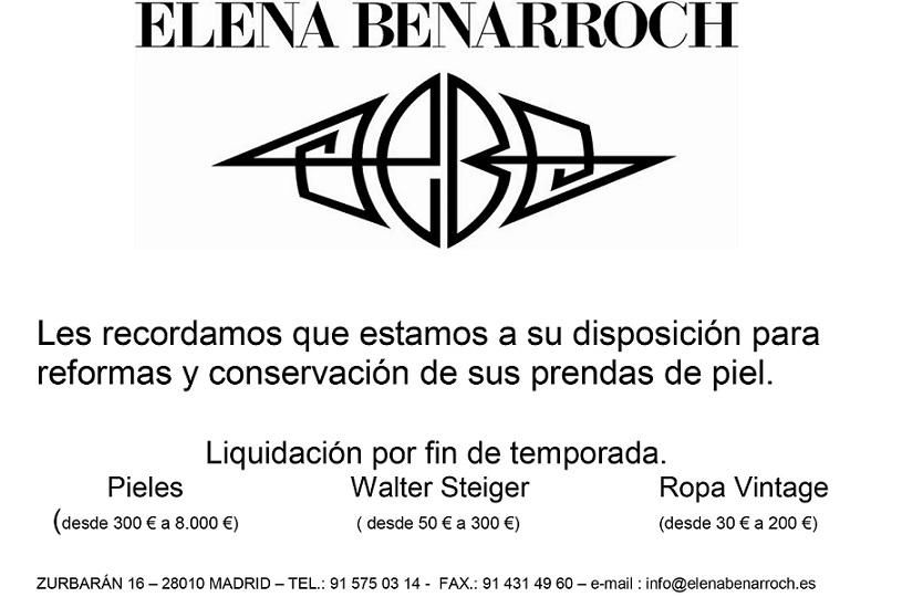 Lo último para tus prendas de piel con Elena Benarroch