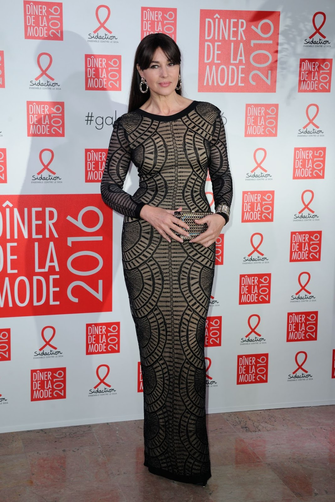 Monica Bellucci at Sidaction Gala Dinner 2016 in Paris