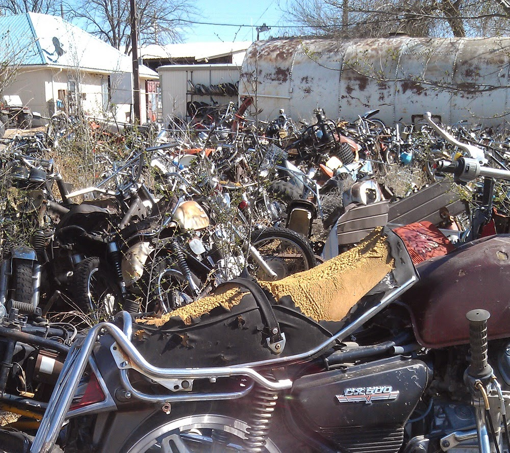 Turpen 39 s travels for Motor cycle junk yard
