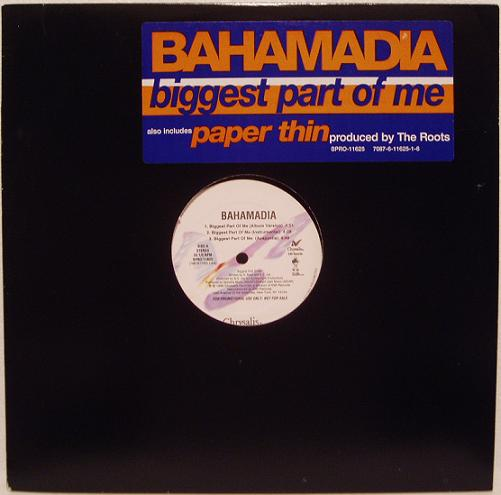 Bahamadia – Biggest Part Of Me / Paper Thin (VLS) (1996) (192 kbps)