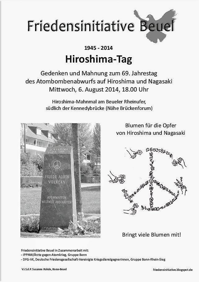 Einladung Hiroshima-Gedenken