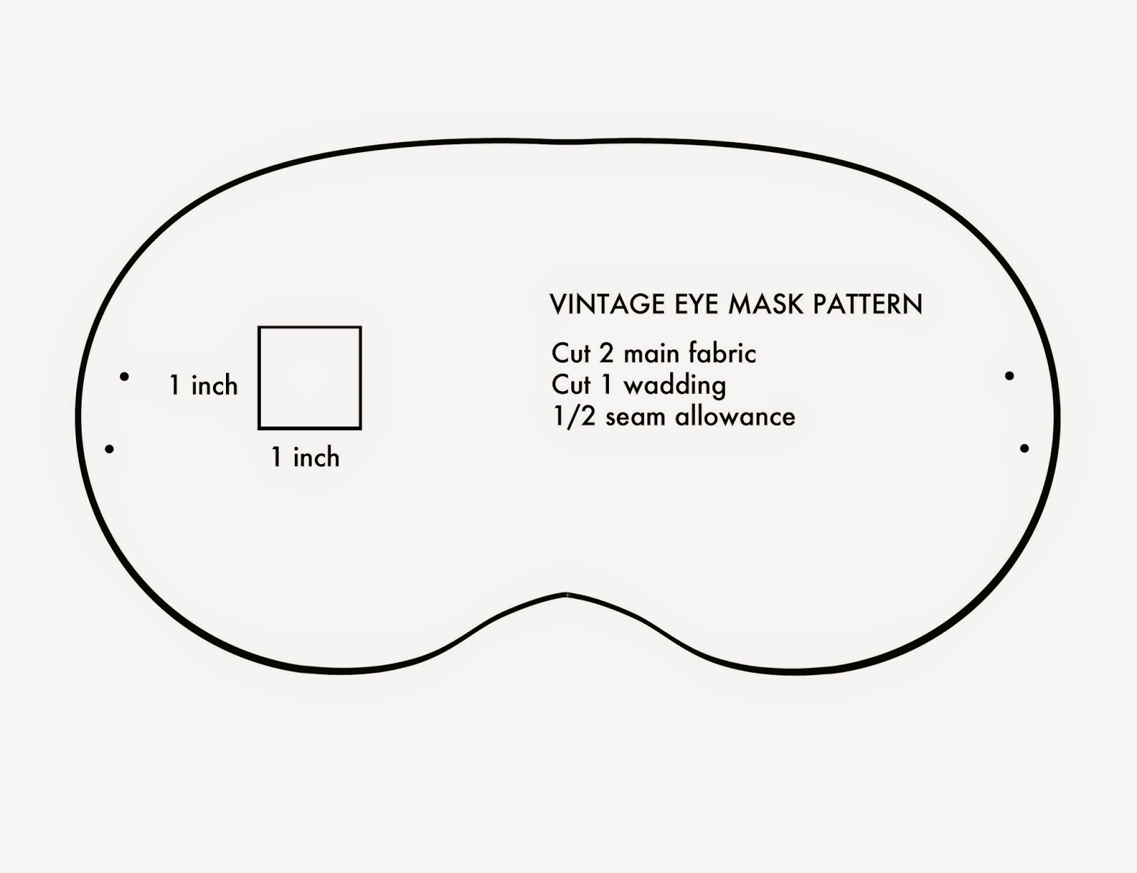 Amelie and Atticus: Vintage Eye Mask Tutorial