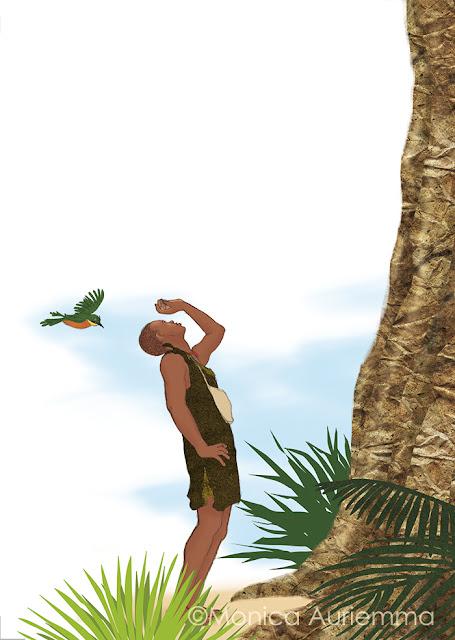 cacciatore-honey-uccellino-albero-illustration