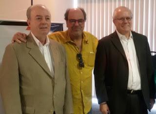 Secretário Municipal de Turismo, Ronaldo Fialho, com o secretário estadual de Turismo, Nilo Sérgio Félix e o presidente da TurisRio Paulo Senise