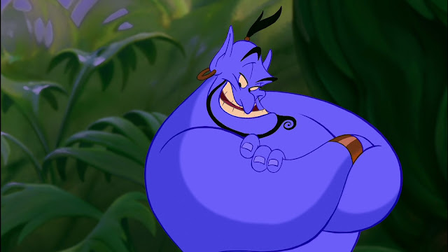 A still of Genie from the film Aladdin.