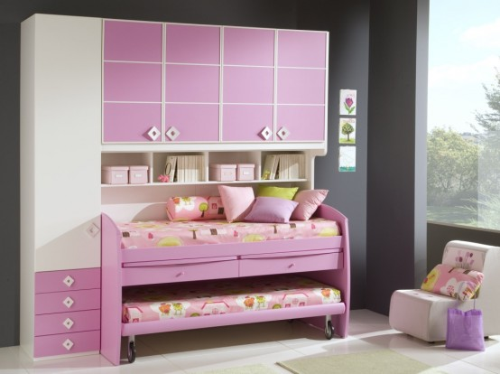 Pink Luxury Suite: Cool Ideas For Pink Girls Bedroom