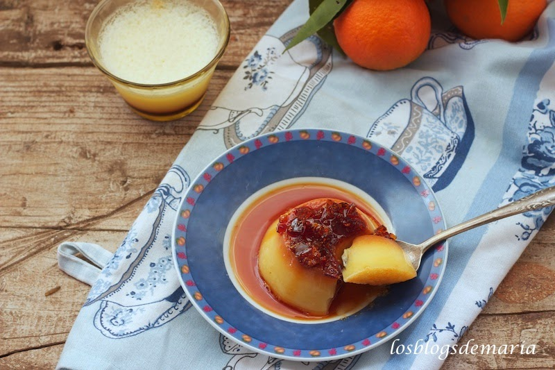 Flan de mandarinas