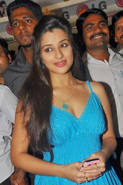 Madhurima In Blue Skirt