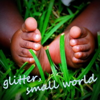 glitter, small world