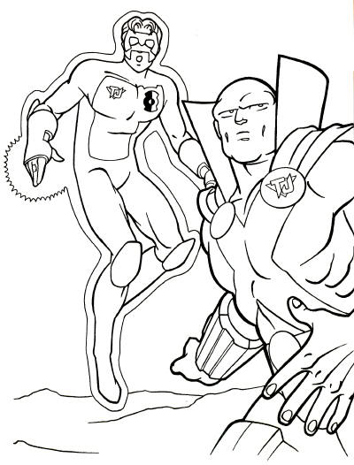 Justice league printable coloring pages for Green lantern printable coloring pages