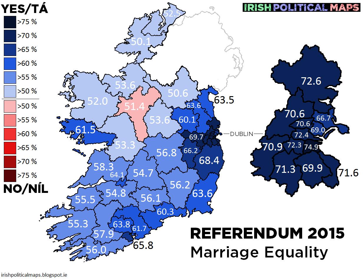 Irish Political Maps: Referendum 2015: Marriage Equality
