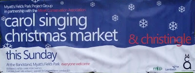 Poster for Carol singing and Christmas market on vassallview.com