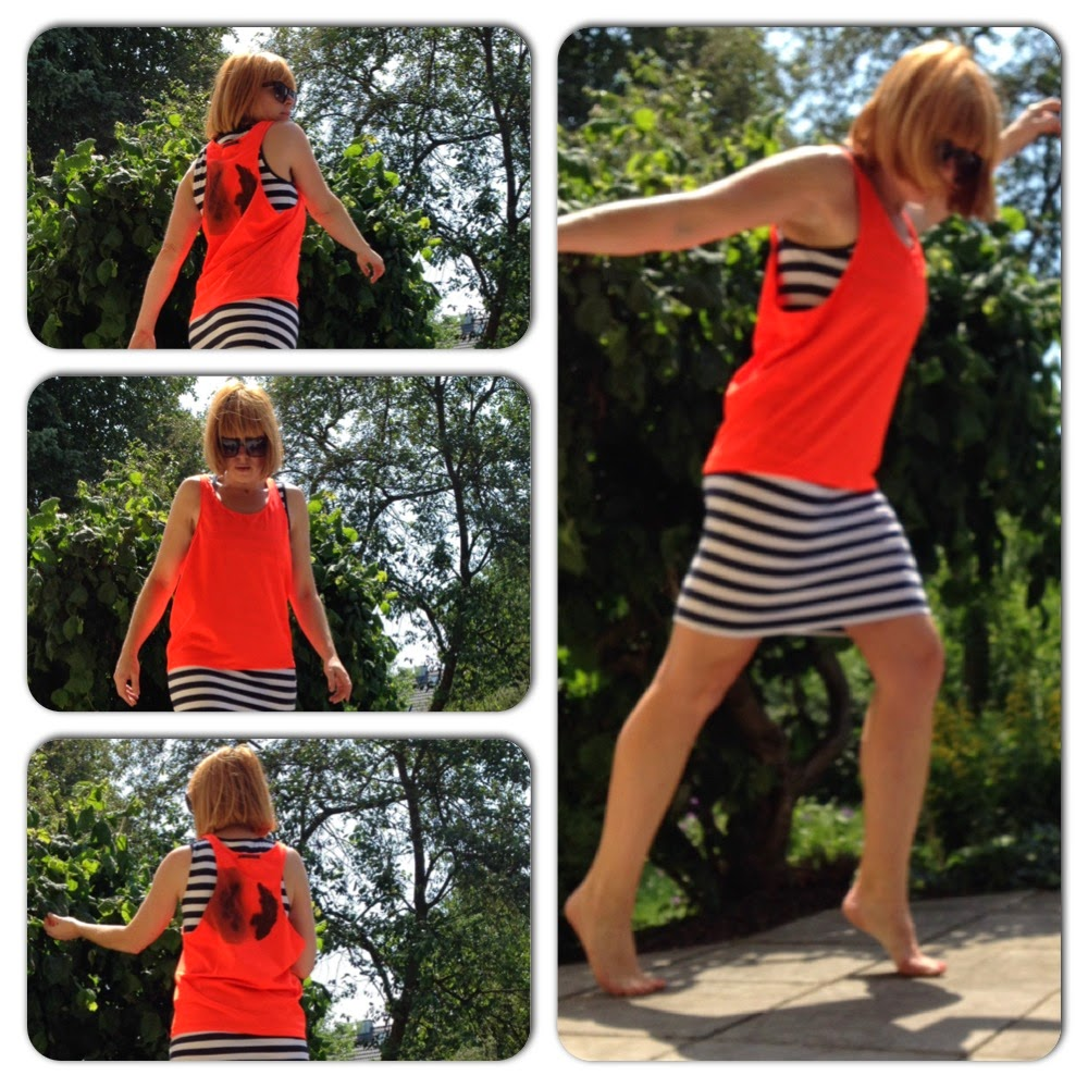 top neonorange racerback