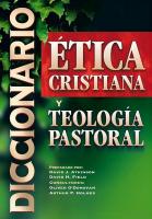 Diccionario de Etica Cristiana y Teología Pastoral