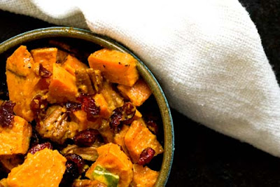 sweet potato salad cranberries pecans
