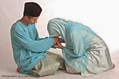 Kartun Islami, Pasangan Islami, Romantis, Harmonis