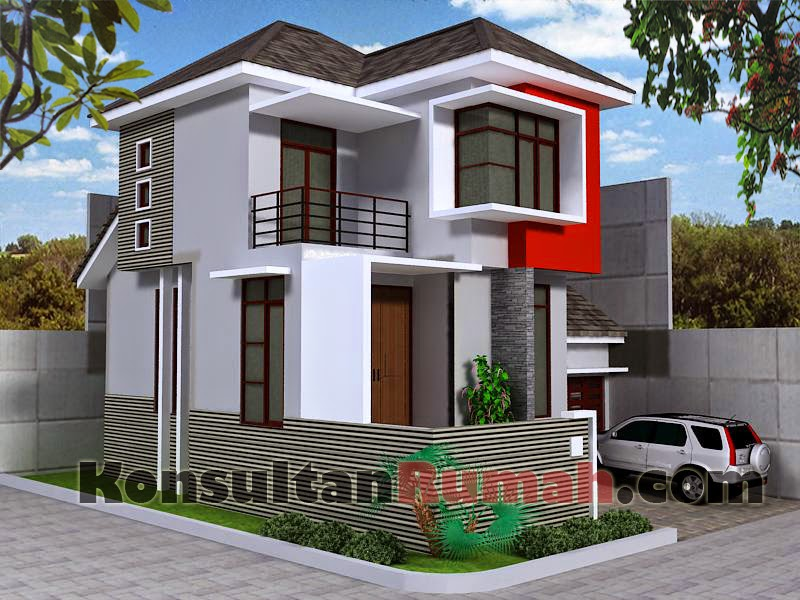 Desain Rumah Minimalis 2 Lantai Type 150