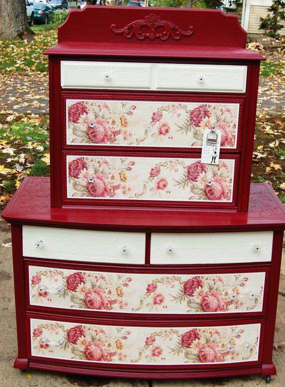 dishfunctional designs vintage red painted furniture. Black Bedroom Furniture Sets. Home Design Ideas